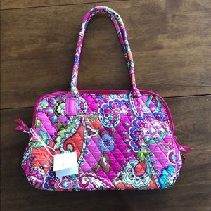 Vera Bradley Zip-Around Handbag in Pink Swirls